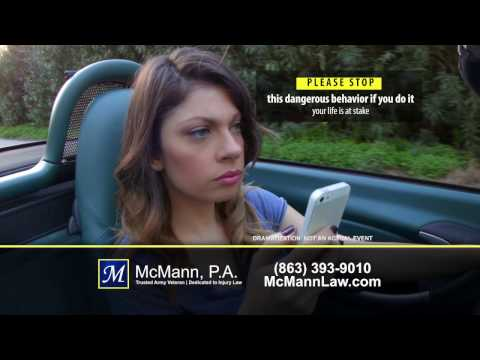Personal Injury   Distracted Driving Accident Lawyer McMann, P.A.
